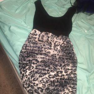 Leopard Print Party Dress